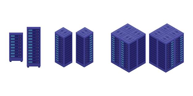 Conjunto de coleta do data center do servidor