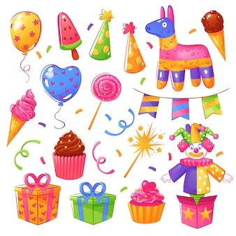Conjunto de comemoração de festa de aniversário