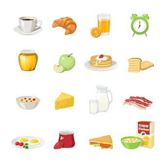 Conjunto de comida de café da manhã
