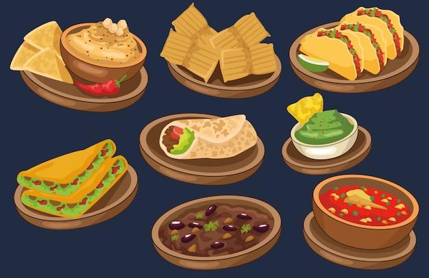 Conjunto de comida de celebração de cinco de maio