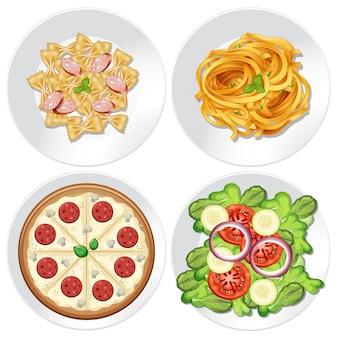 Conjunto de comida saudável