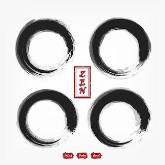 Conjunto de compilação de círculo enso zen