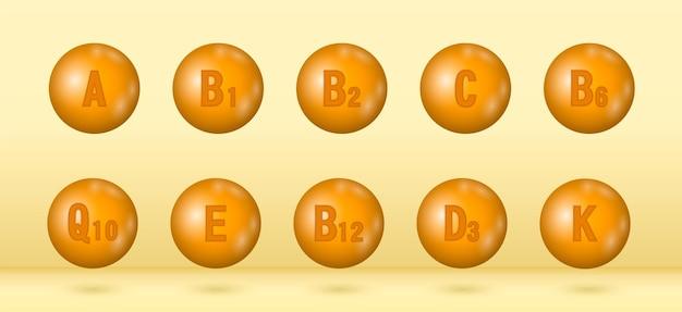 Conjunto de complexo multivitamínico