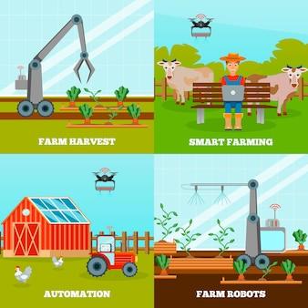 Conjunto de composição de agricultura inteligente