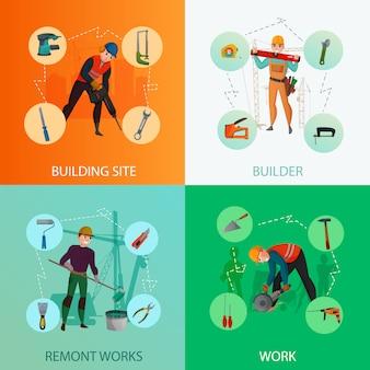 Conjunto de composição de construtores
