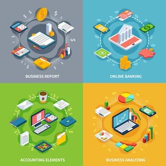 Conjunto de composição de contabilidade on-line