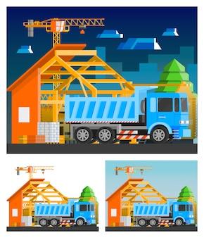 Conjunto de composições de construção