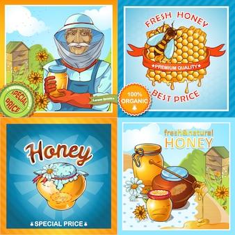 Conjunto de composições de mel