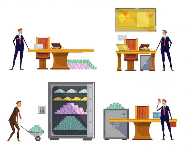 Conjunto de composições de riqueza financeira