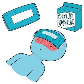 Conjunto de compressas frias