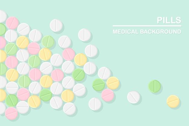 Conjunto de comprimidos isolado em verde claro