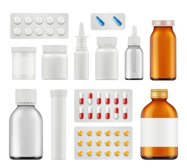Conjunto de comprimidos médicos