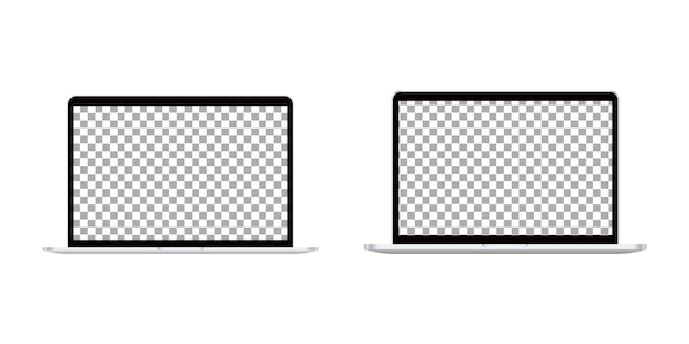 Conjunto de computador portátil realista.
