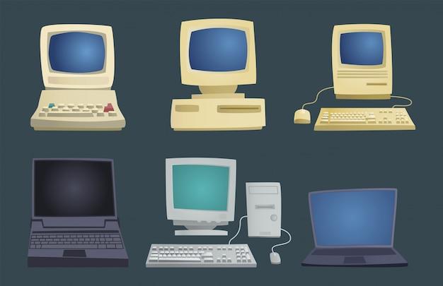 Conjunto de computador retrô