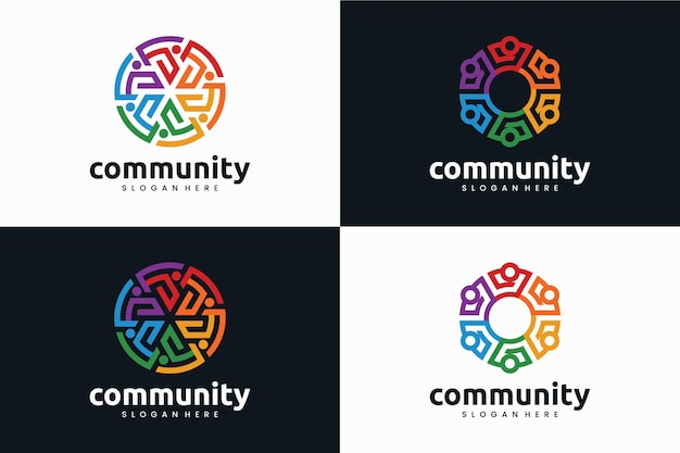 Conjunto de comunidade, inspiração de design de logotipo