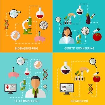 Conjunto de conceito de biotecnologia