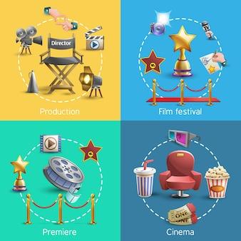 Conjunto de conceito de cinema