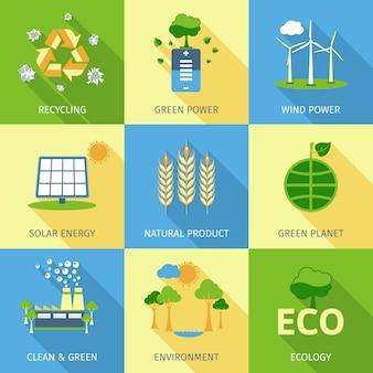Conjunto de conceito de ecologia