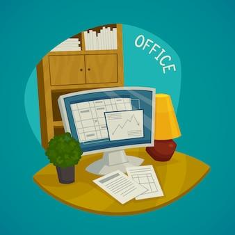 Conjunto de conceito de escritório