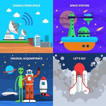 Conjunto de conceito de espaço