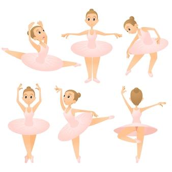 Conjunto de conceito de garota bailarina