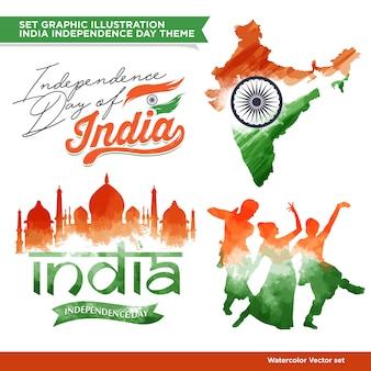 Conjunto de conceito de india