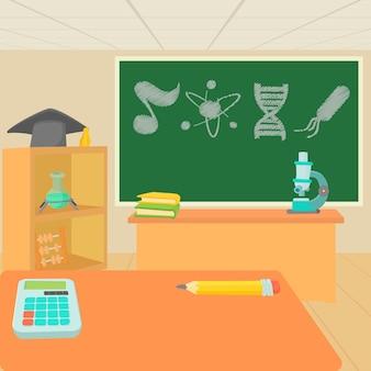 Conjunto de conceito de sala de aula de educação