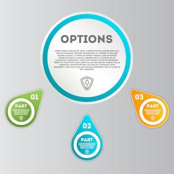 Conjunto de conceito moderno de infográficos de negócios
