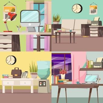 Conjunto de conceito ortogonal de escritório