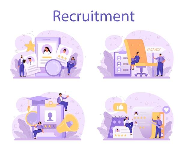 Conjunto de conceitos de recrutamento