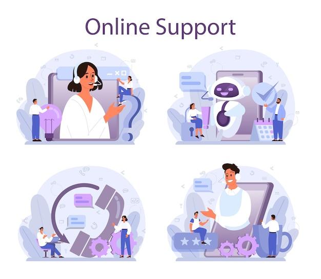 Conjunto de conceitos de suporte técnico.