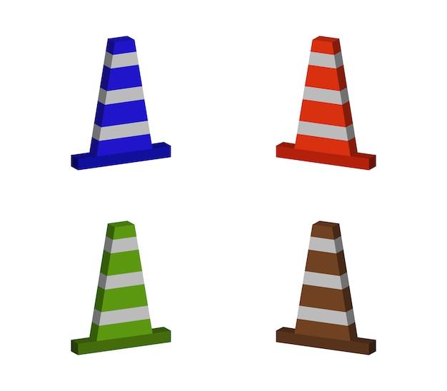 Conjunto de cone de tráfego