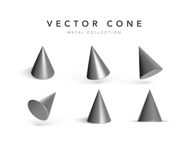Conjunto de cones geométricos isolados no branco