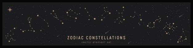 Conjunto de constelação do zodíaco