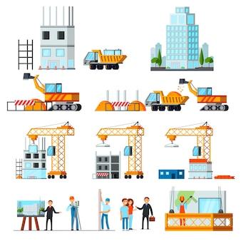 Conjunto de construção de arranha-céu