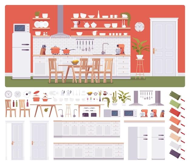 Conjunto de construção de cozinha