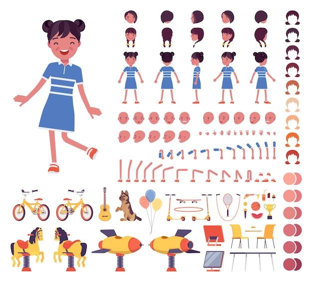 Conjunto de construção de menina