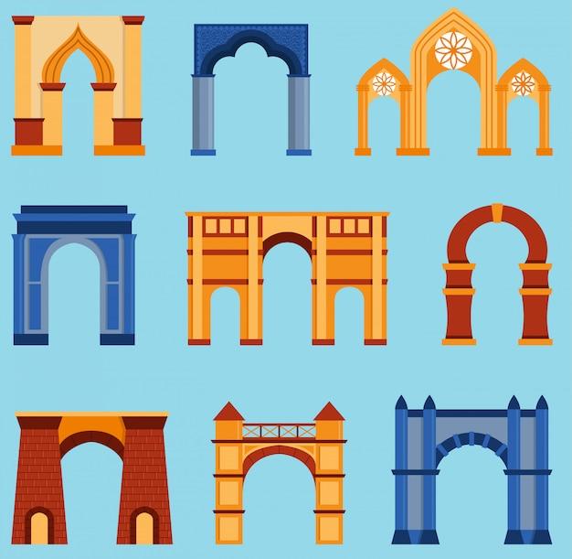 Conjunto de construção em arco