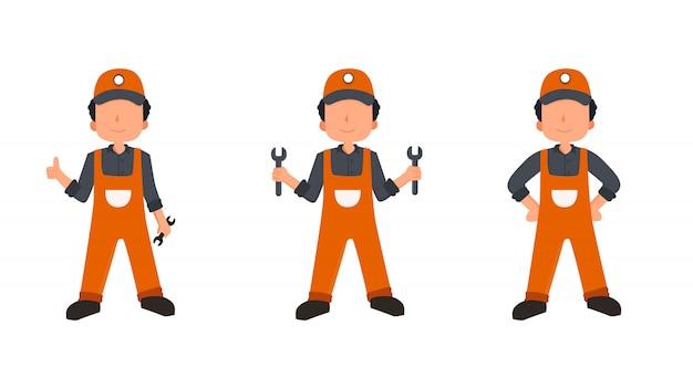 Conjunto de construtor de desenho animado. ilustração