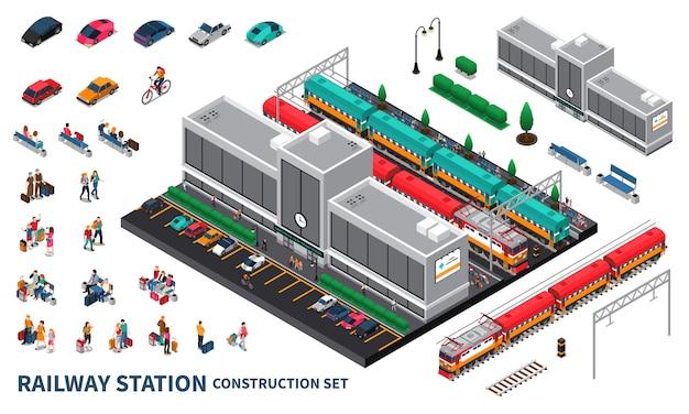 Conjunto de construtor de estação ferroviária