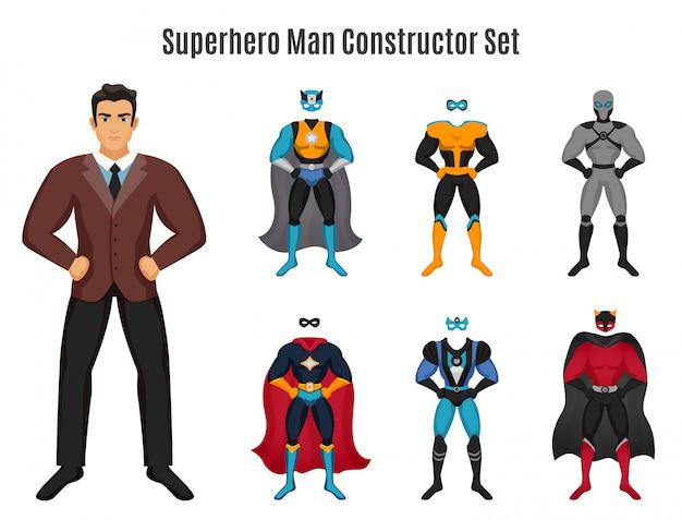 Conjunto de construtor de homem super-herói