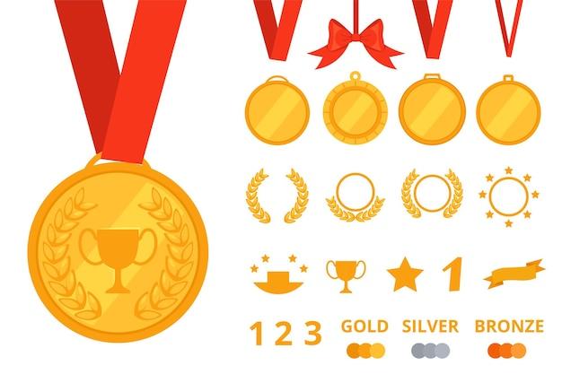 Conjunto de construtor para criação de medalhas.