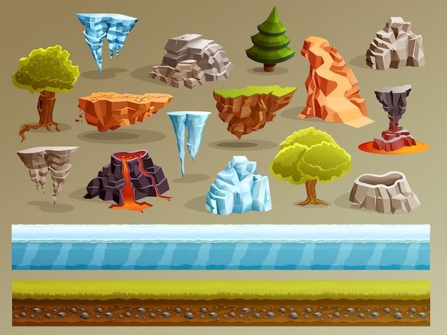 Conjunto de construtores de paisagem de jogos