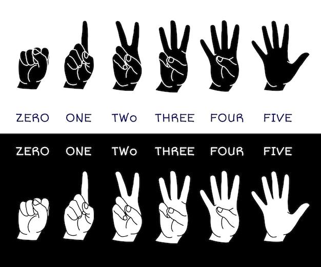 Conjunto de contagem de mãos