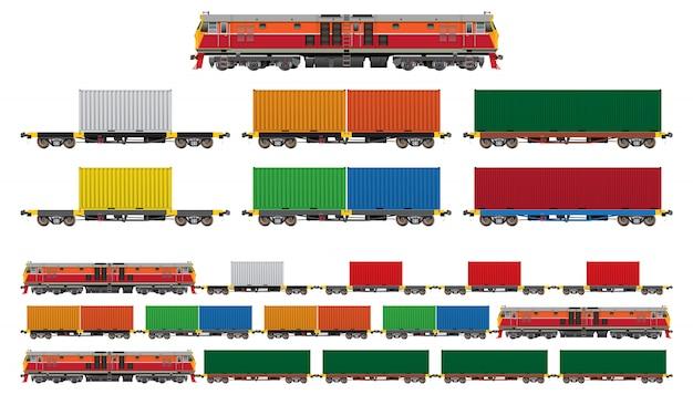 Conjunto de contentor de trem