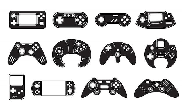 Conjunto de controladores de videogame