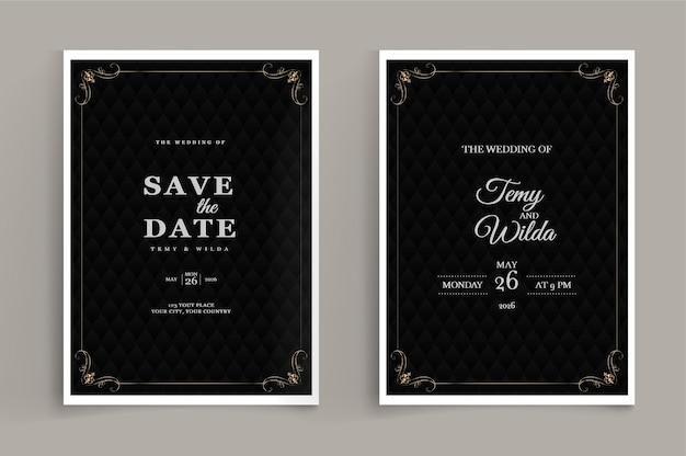 Conjunto de convite de casamento de luxo