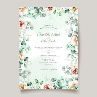 Conjunto de convite de casamento eucalipto