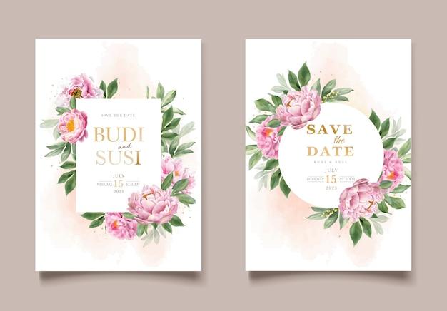 Conjunto de convites de casamento