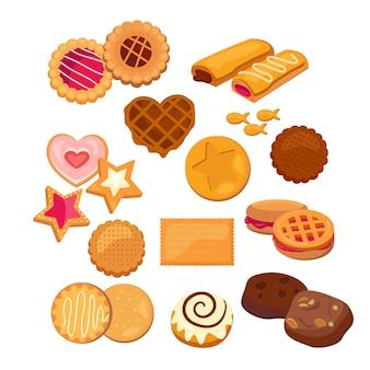 Conjunto de cookies deliciosos